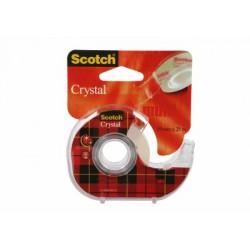 Ruban Adhésif Scotch® Crystal - Dévidoir Rechargeable - 19 mm x 25 m