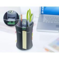 Dévidoir Compact Multi Fonctions - Noir + 2 x Notes Post-it® - Jaune - 76 x 127 mm + 2 x Post-it® Index Standard - Jaune, Rouge