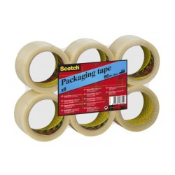 Ruban d'Emballage Scotch® - Classique - Flat Pack - Transparent - 50 mm x 66 m - 6 Rouleaux/Paquet