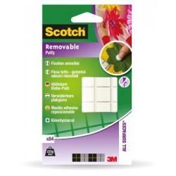 Pastilles Repositionnables de Pâte Adhésive Blanche Scotch® Fixe Tout - 8 x 10 mm - 84 Unités