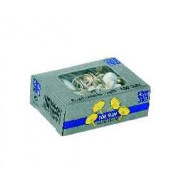 Punaises Alco tête plastique blanche 9,5mm boîte de 100