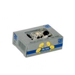 Punaises Alco plastif. noir boîte de 100