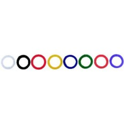 Anneau clefs Alco plastique couleurs assorti boîte de 8 pces