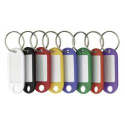 Porte-clés Alco avec étiquette changeable assorti sachet de 10 pièces