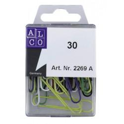 Trombones Alco rondes 50mm couleurs assorties 30 pièces