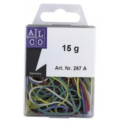 Élastiques Alco 20-50mm boîte. de 15 gr couleurs ass