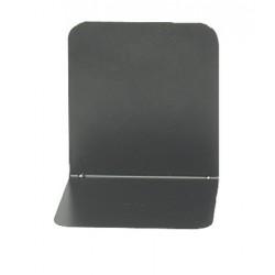 Support livres Alco 130x140x 140mm métal noir, boîte. 2 pièces