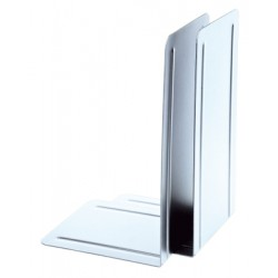 Support livres Alco 130x240x 140mm métal blanc, boîte. 2 pièces