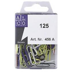 Trombones Alco 26mm pointues couleurs assorties boîte 125 pièces