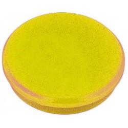 Aimant Alco 32mm rond jaune boîte.10 pièces