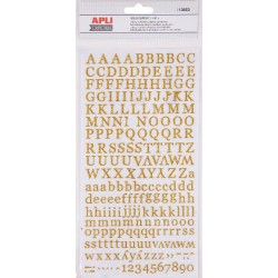 P 2F STICKERS ABC PAILLETTES OR