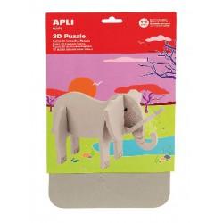 SACH PUZZLE 3D MOUSSE ELEPHANT