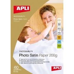 PAPIER PHOTO SATIN 200GR. 60F