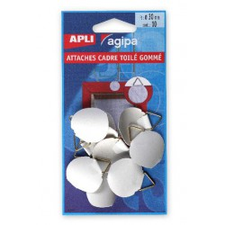 10 ATTACHES CADRES D30MM TOIL GOM