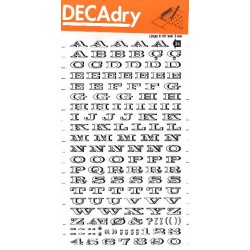 DECAdry transfert noir n°34 (5mm) 1F