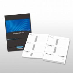 JOURNAUX DE CLASSE, papier sans bois extra blanc, encollé, Français - secondaire, bleu, 80g/m², 96p, 208x295mm