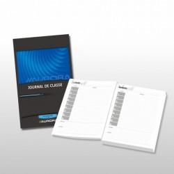 JOURNAUX DE CLASSE, papier sans bois extra blanc, cousu fil de lin, Français - secondaire, bleu, 80g/m², 272p, 136x205mm