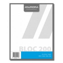 BLOCS BROUILLON, BLOC BROUILLON 21X27 200FLLS Q5X5, PAPIER RECYCLÉ