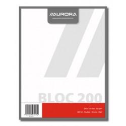 BLOCS BROUILLON, BLOC BROUILLON 21X27 200FLLS UNI, PAPIER RECYCLÉ