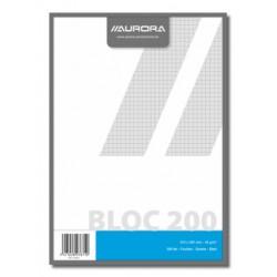 BLOCS BROUILLON, BLOC BROUILLON A4 200FLLS Q5X5, PAPIER RECYCLÉ