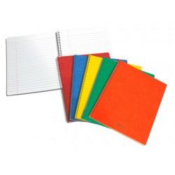 CAHIERS SPIRALÉS, papier sans bois, travers 8mm + marge rouge, carton lyon assortis, 80g/m², 160p, 165x210mm