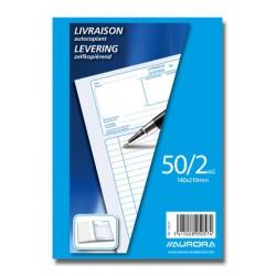 BONS DE LIVRAISONS, BON DE LIVRAISON 140X210 50/2NÉ/FR, AUTOCOPIANT 50 X 2 FLLS