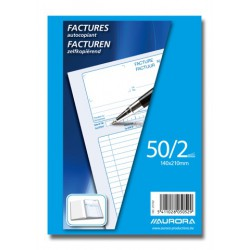 CARNETS DE FACTURES, CARNET FACTURES 14X21 50/2 NÉER/FR, AUTOCOPIANT 50 X 2 FLLS