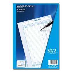 CARNETS DE CAISSE, CARNET DE CAISSE A4 50/2 NÉER/FRAN, AUTOCOPIANT 50 X 2 FLLS