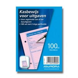 DÉPENSES, papier couleur sans bois, Néerlandais, rose, A6, 200p, 105x148mm