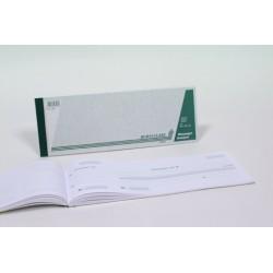 REÇUS, papier sans bois, Néerlandais, 50fls, 297x105mm