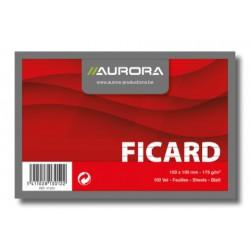 FICARD, FICHES 100X150 BLANC LIGNÉ 175G/M², FICHES SANS BOIS BLANC