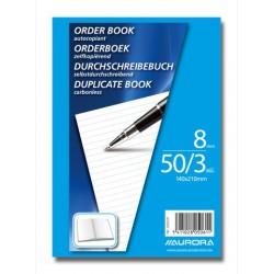 ORDER-BOOKS, CARNET AUTOCOP.140X21 50/3 LIGNÉ, AUTOCOPIANT 50 X 3 FLLS