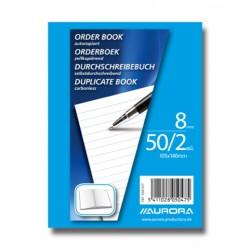 ORDER-BOOKS, CARNET AUTOCOP.105X140 50/2 LIGNE MANIFOLD, AUTOCOPIANT 50 X 2 FLLS