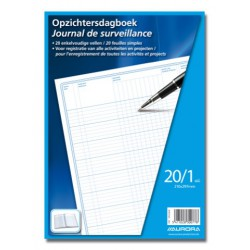 JOURNAL DE SURVEILLANCE, papier sans bois, Français / Néerlandais, A4, 70g/m², 40p, 210x297mm