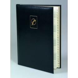 BUROPHONE, papier chamois, répertoire, couverture bleue Coverpel, 90g/m², 192p, 160x215mm