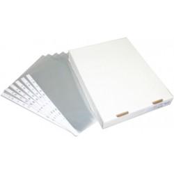 POCHETTES PERFORÉES EN PP, pp 60µ lisse, en boîte, 11 perfos, transparent neutre, 230x305mm