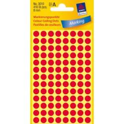 Pastilles Colorées, rouges, Ø 8 mm 4 feuilles, 104 et. par feuille