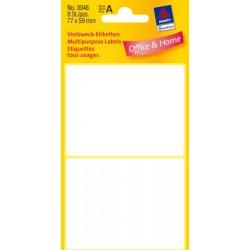 Etiquettes tous usages, blanches 77x59mm