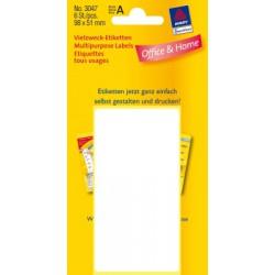 Etiquettes tous usages, blanches 98x51mm