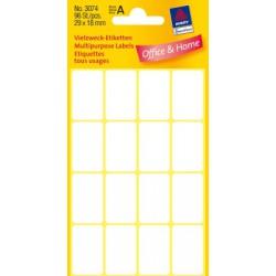 Etiquettes tous usages, blanches 29x18mm