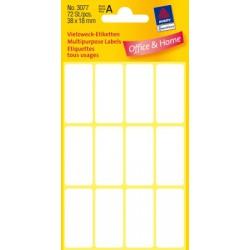 Etiquettes tous usages, blanches 38x18mm
