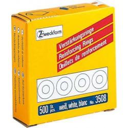 Oeillets de renforcement Zweckform 13mm blanc 500 etiquettes