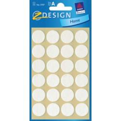 Pièces de feutrines Z-design 18mm rondes blanc boite 24 pces