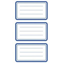 Étiquette scolaire Z-design 3 feuilles cadre bleue
