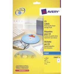 Étiquettes CD maxi couvrantes, qualité photo, Ø 117 mm