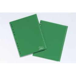 INTERCALAIRES A4 onglet 1-52 vert