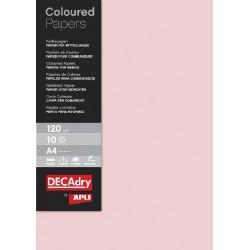B.PAPIER COULEUR ROSE 120G 10F-