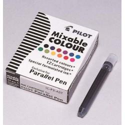 12 recharges assortis Parallel Pen