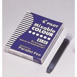 6 recharges bleu Parallel Pen