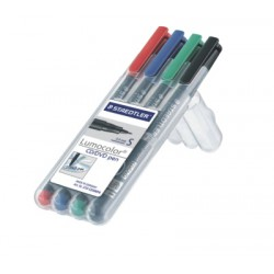 Lumocolor CD/DVD pen, fin - Box 4 couleurs
